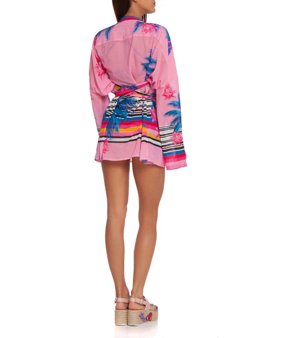 Плажна риза Pink Palm