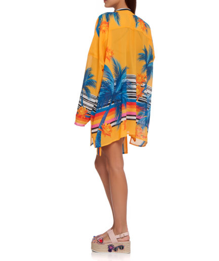 Yellow Palm Cover Up