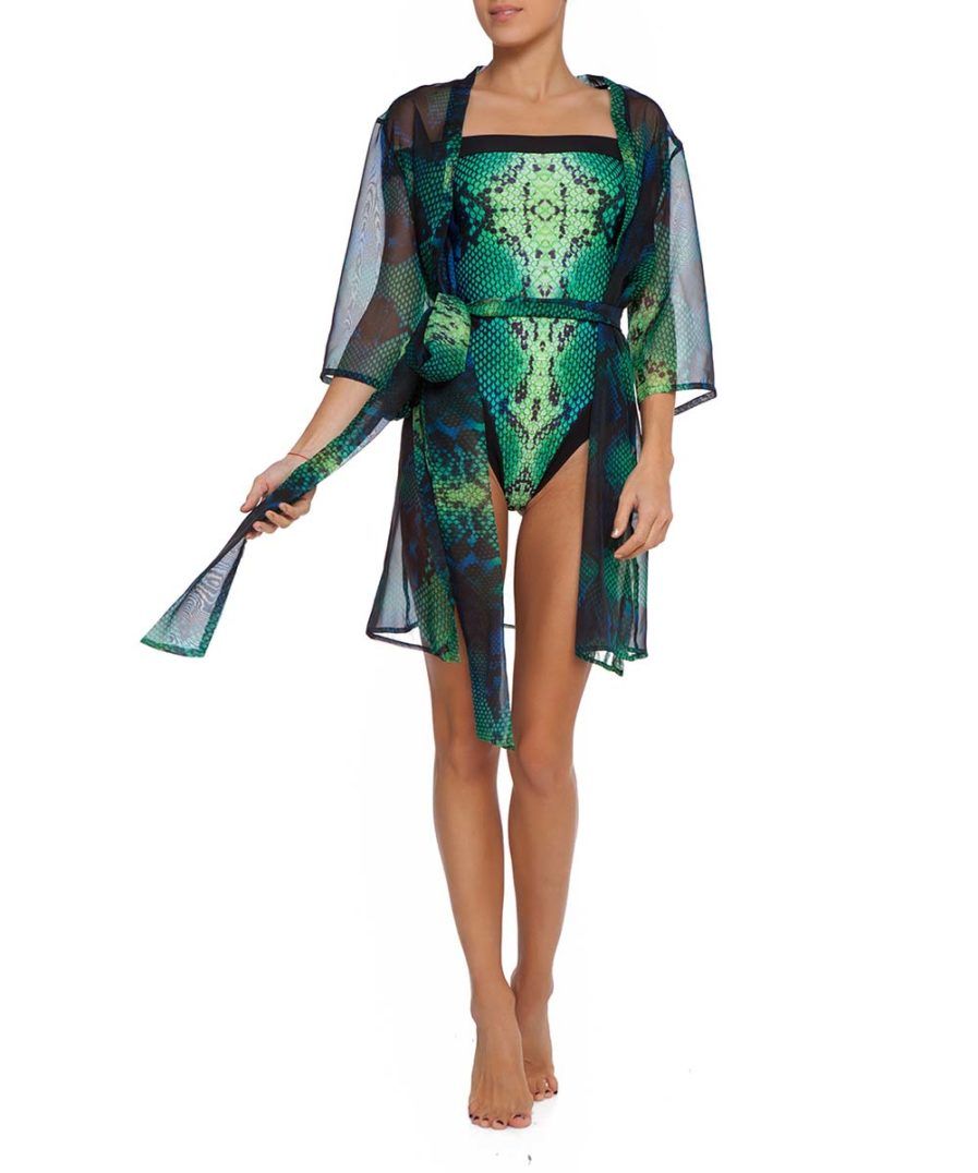 Green Boa Cover Up