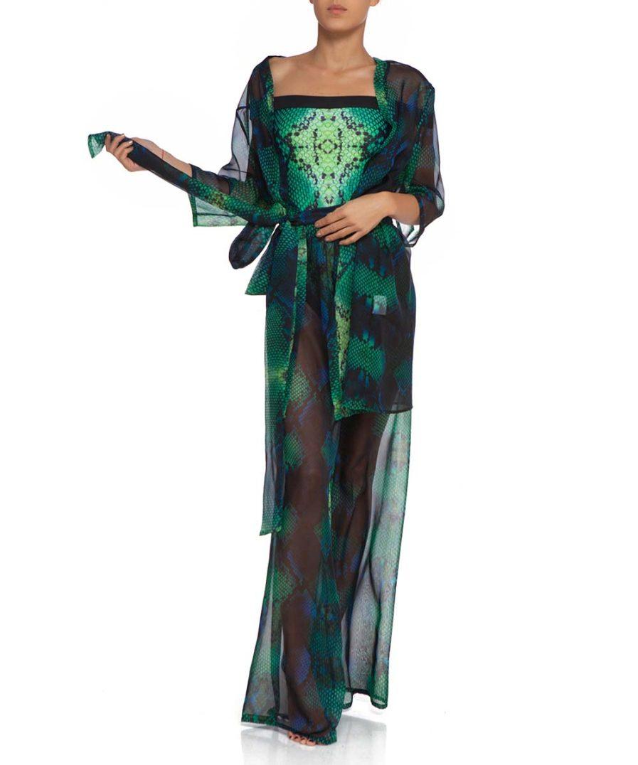 Green Boa Set