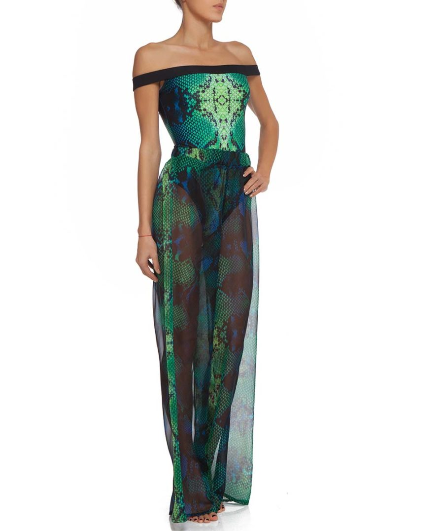 Green Boa Trousers