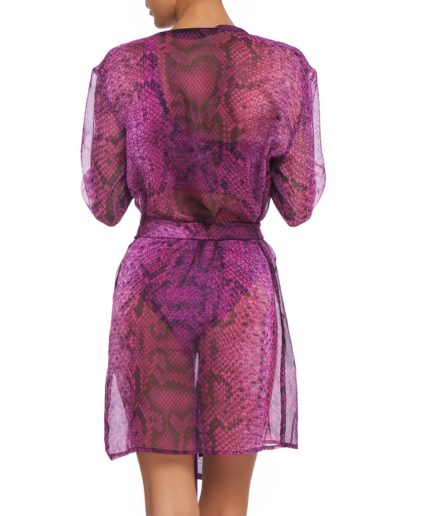 Pink Boa Cover Up