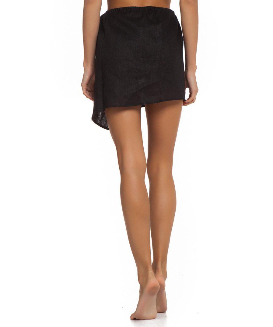 Black Linen Skirt
