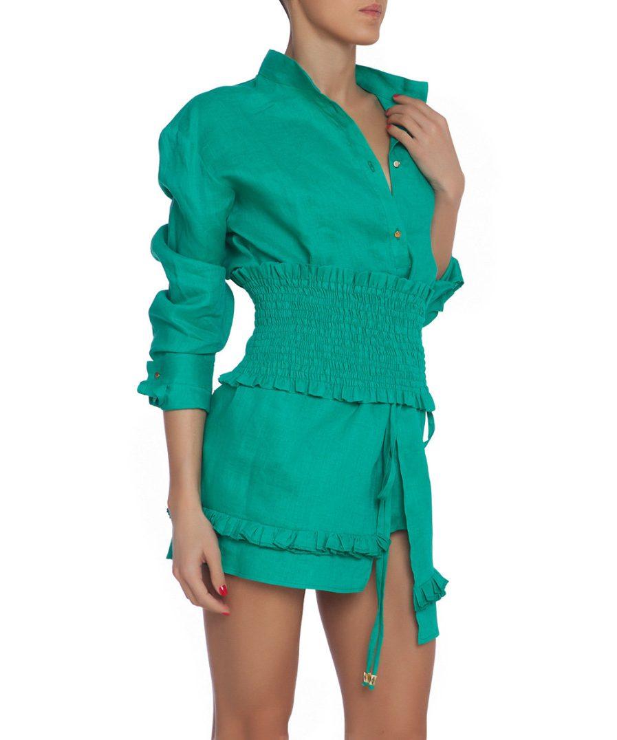 Green Linen Set