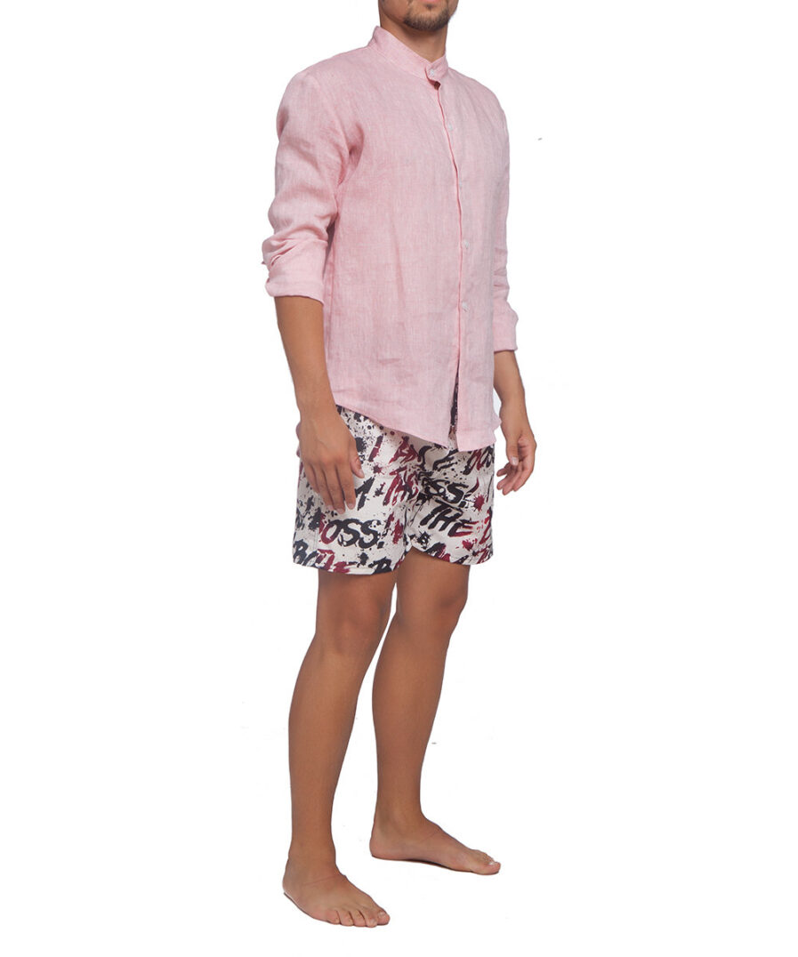 Rose Linen Shirt