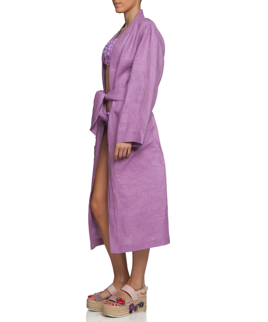 Linen Lilac Robe