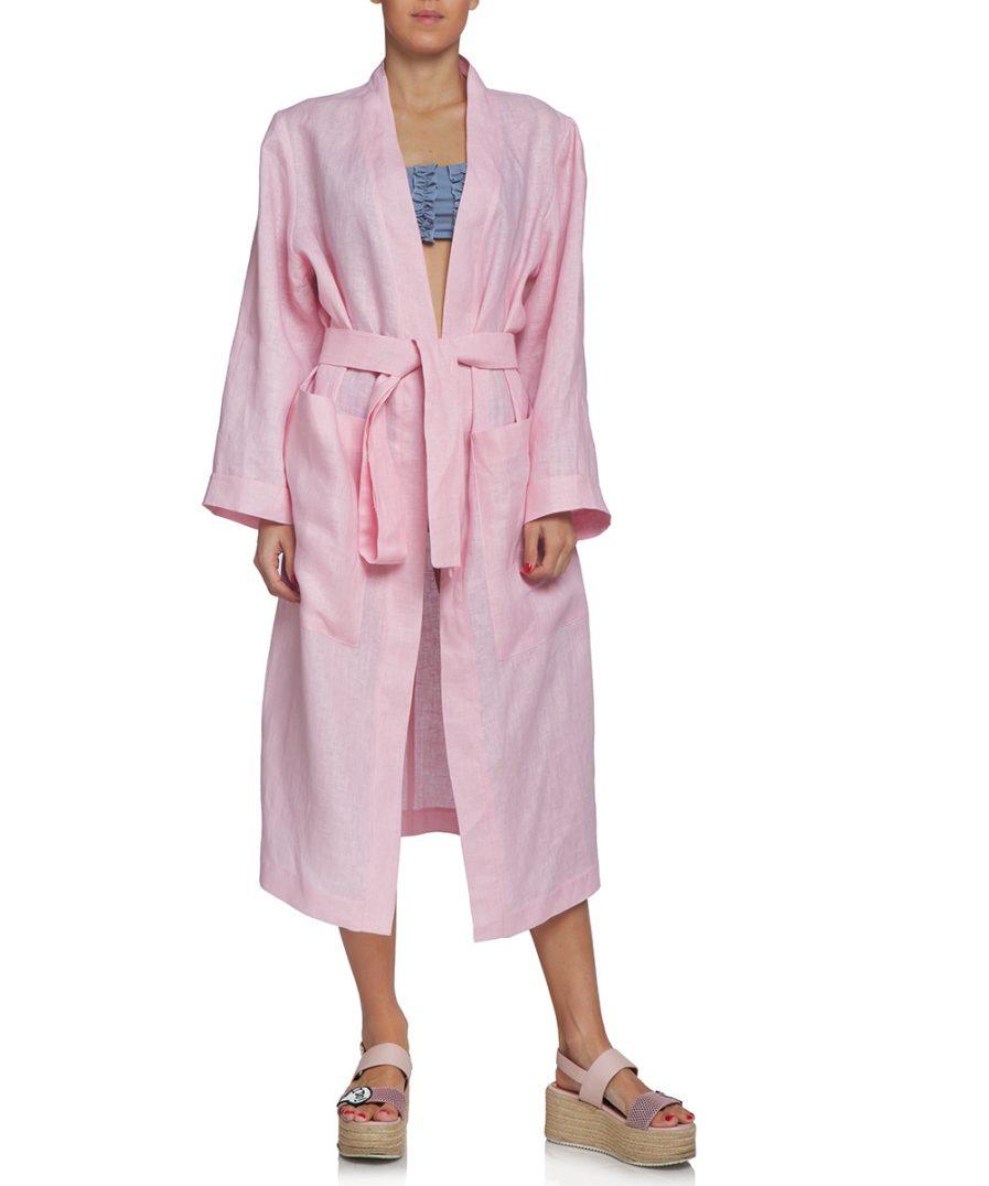 Linen Pink Robe